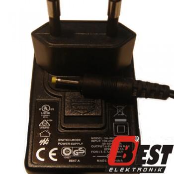 3A-061WP05  / 4.6 Volt 0.5 Amper Adaptör
