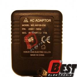 A9100-230  /  9 Volt 1 Amper Adaptör