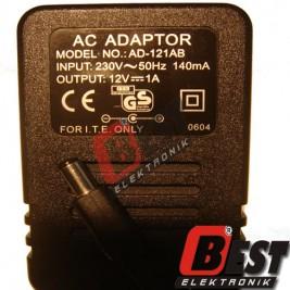 AD-121AB AC ADAPTOR / 12 Volt 1 Amper Adaptör