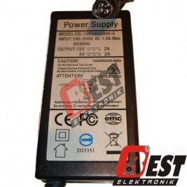 CS-120/0502000-E / 12 Volt 2 Amper - 5 Volt 2 Amper Adaptör