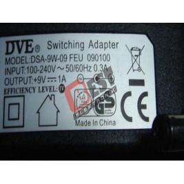 DSA-9W-09  / 9 Volt 1 Amper Adaptör
