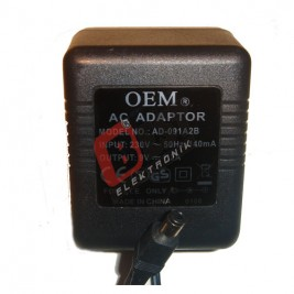 AD-091A2B  / 9 Volt 1.2 Amper Adaptör