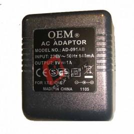 AD-091AB  / 9 Volt 1Amper Adaptör