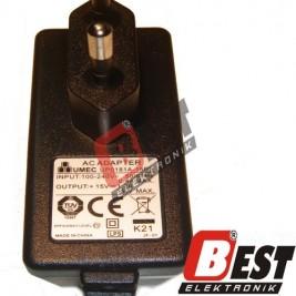 UP0181A-15PE - 15 Volt 1.2 Amper Adaptör