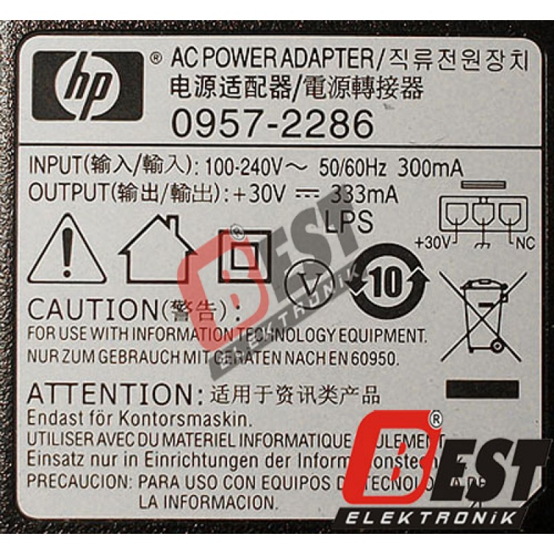 Hp 0957 2286 Printer Yazıcı Adapt 246 R 252 30v 333ma Hp