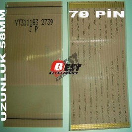 YT3111B3 2739 Panel Flex Cable 78 pin 5.8 cm